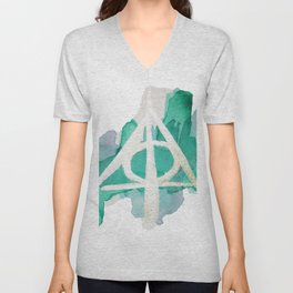 Watercolor Hallows Unisex V-Neck