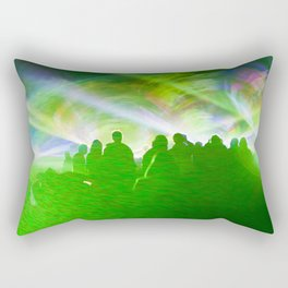 Laser show crowd Rectangular Pillow