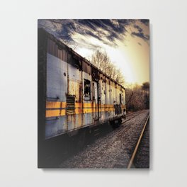 Fading Into The Sunset Metal Print