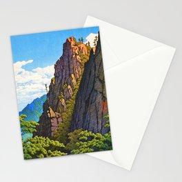 Kawase Hasui - The Eight Views Of Korea, Samburam Rock, Kumgang Mountain Stationery Cards