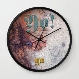 Yo! ga ga Wall Clock