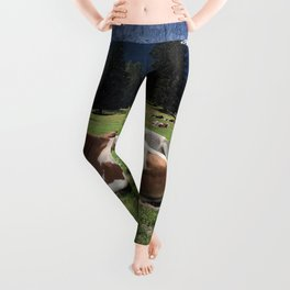 Cows in the Alps Leggings