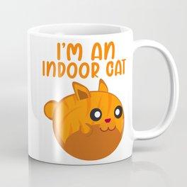 I'm an Indoor Cat Orange Cats Lover Coffee Mug