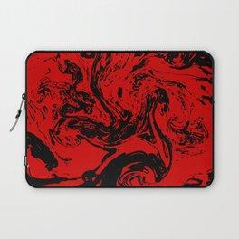 Red & Black liquid ink Laptop Sleeve
