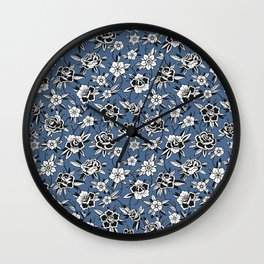 Evening in the Rose Garden Wall Clock