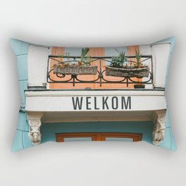 Colourful architecture buildings - Dutch fineart photography Rectangular Pillow