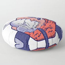 missiles wave Floor Pillow