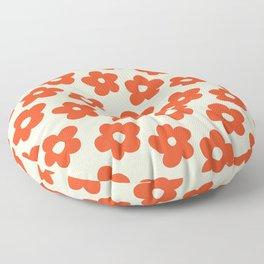 Retro 60s 70s Flower Pattern #pattern #vintage #poppy Floor Pillow
