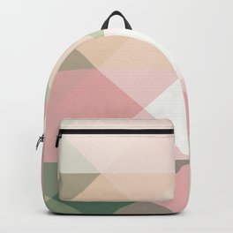 Modern blush tones pink abstract geometrical triangles Backpack