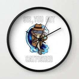 You Got Catfished Private Investigator Catfish Detectiv Online Wall Clock