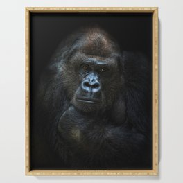 she-gorilla Serving Tray
