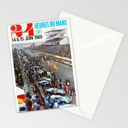 1969 Le Mans poster, Race poster, Car poster, vintage poster Stationery Cards