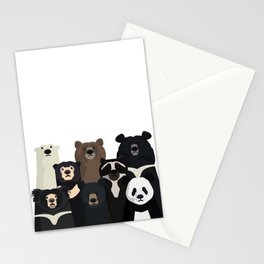 Bear family portrait Stationery Cards