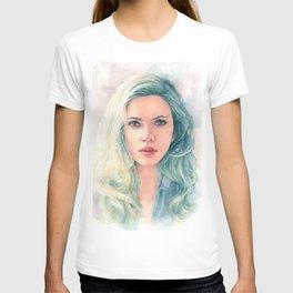 Scarlett Johansson watercolor T-shirt