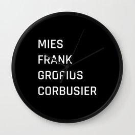 Modern Architecture (Black) Wall Clock