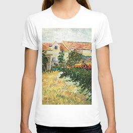 House with sunflowers by Vincent van Gogh T-shirt