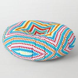 Simple Rainbow Chakra Mandala - Colorful - Romb - Folk Geometry  Floor Pillow
