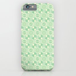 Hexagon Geometric Pattern iPhone Case