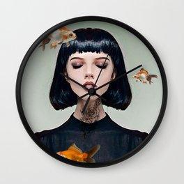 Goldfish Dreaming Wall Clock