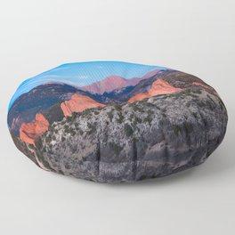 Pikes Peak - Sunrise Over Garden of the Gods in Colorado Springs Floor Pillow