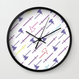 Dungeons & Dragons - Swords and Axes Pattern (Phones/Mugs/Bags) Wall Clock