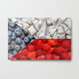 Healthy Czech Flag Metal Print