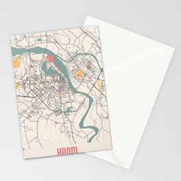 Hanoi - Vietnam Chalk City Map Stationery Cards