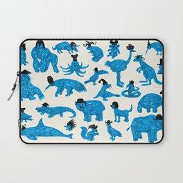 Blue Animals Black Hats Laptop Sleeve