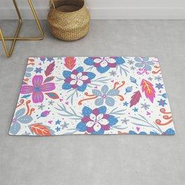 Floral Pattern, Flowers Illustration Rug