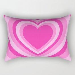 Beating Heart Pink Rectangular Pillow