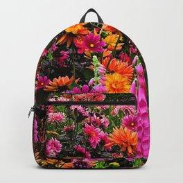 DECORATIVE SPRING FLOWERS GARDEN ART Backpack