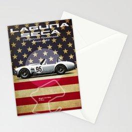 Laguna Seca Racetrack Vintage Stationery Cards