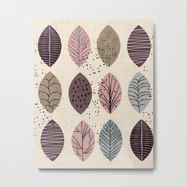 Nature Inspired Leaves Metal Print