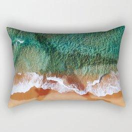 airplane on the beach Rectangular Pillow