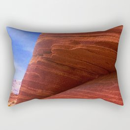 Southwest Rustic Red Canyons: The Wave, Paria Wilderness Rectangular Pillow