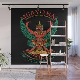 Muay Thai Sak Yant Garuda Wall Mural