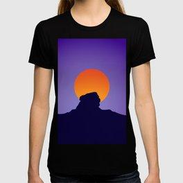 Sri Lanka Sigriya : Sun Mountain Silhouette T-shirt