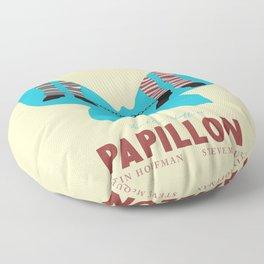 Papillon, Steve McQueen vintage movie poster, retrò playbill, Dustin Hoffman, hollywood film Floor Pillow