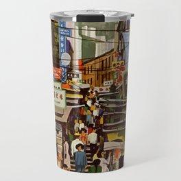 Vintage Hong Kong Travel Poster Travel Mug