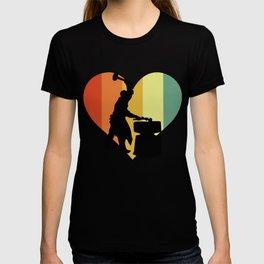 Hipster Silversmith Heart T-shirt