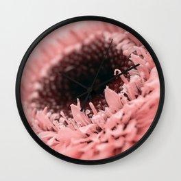 Pink Sunflower Wall Clock