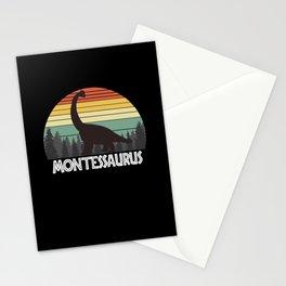 MONTESSAURUS MONTES SAURUS MONTES DINOSAUR Stationery Cards