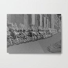 Bike or hike Metal Print