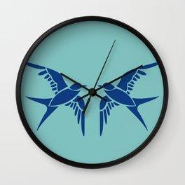 bluebirds of happiness Wall Clock