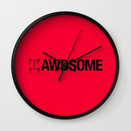 AWDSOME v4 HQvector Wall Clock