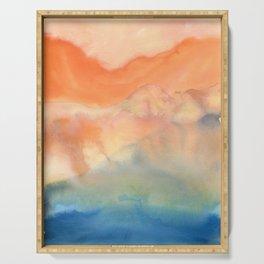 tie dye - the Earth: heaven Serving Tray