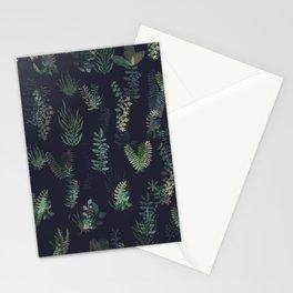 green garden at nigth mirror!!! Stationery Cards