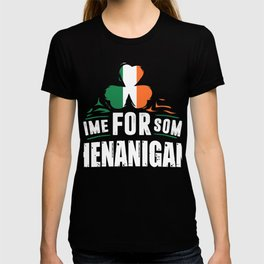 St. Patricks Day Design: Time For Some Shenanigans I Folklore T-shirt