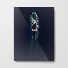 Fishing Boat | Aerial Photography  Metal Print