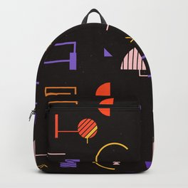 Geometric Shape Line Straight Rounded Pattern Gift Backpack